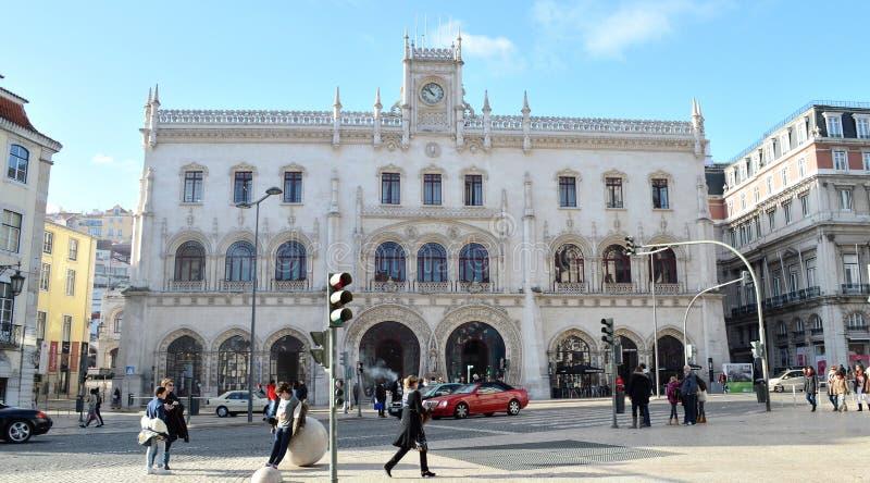 Centrale post van Lissabon, Europa royalty-vrije stock afbeeldingen