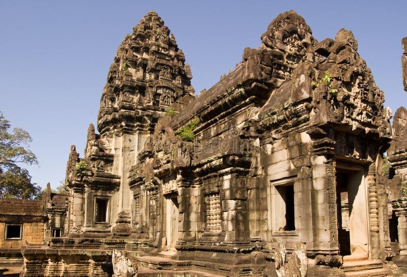 Centrale Prasat, de Tempel van Banteay Samre, Angkor, Camb royalty-vrije stock afbeeldingen