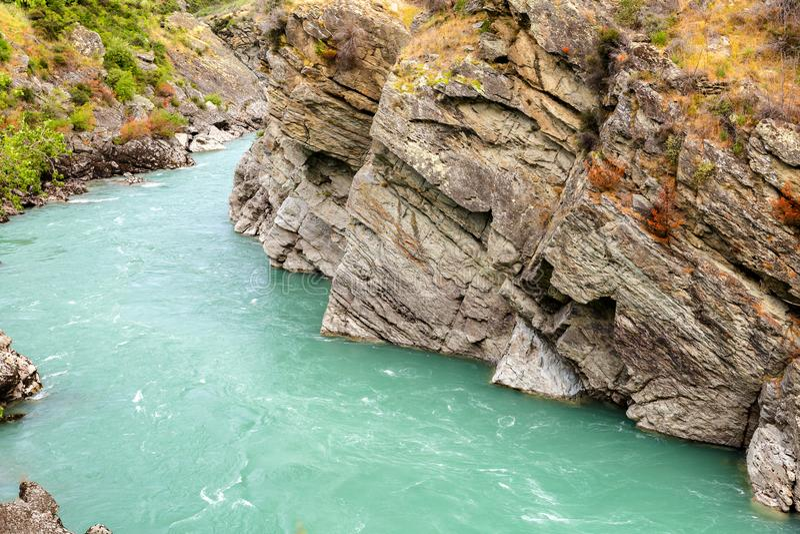 Centrale proche de l'hurlement mégohm de rivière de Kawarau, Nouvelle-Zélande image stock