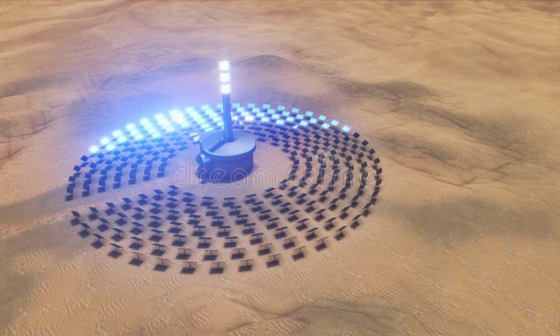 Centrale solaire illustration de vecteur