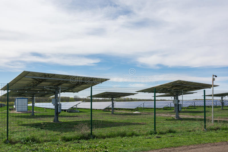 Centrale solaire image libre de droits