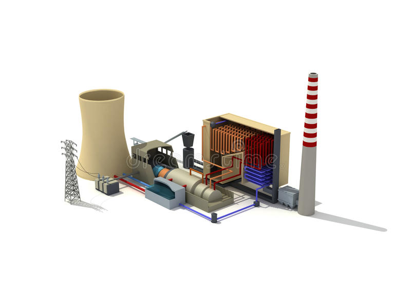 Centrale thermique illustration stock