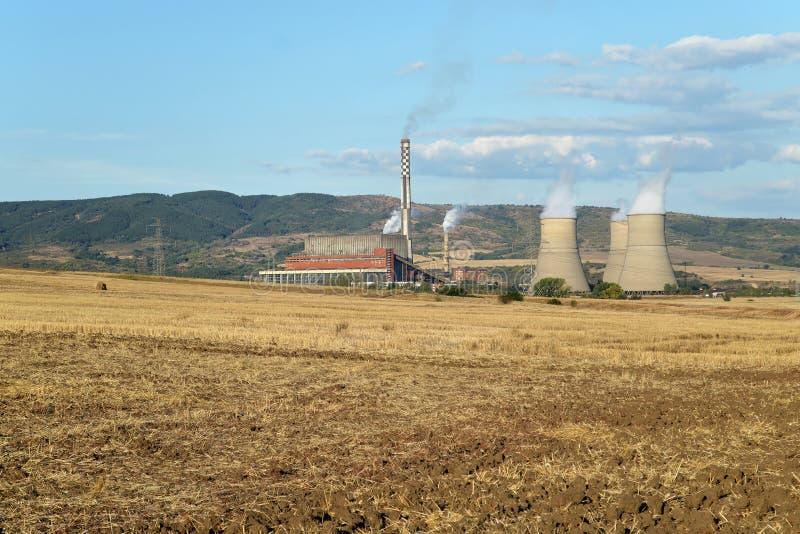 Centrale thermique de Bobobv Dol, Bulgarie images libres de droits