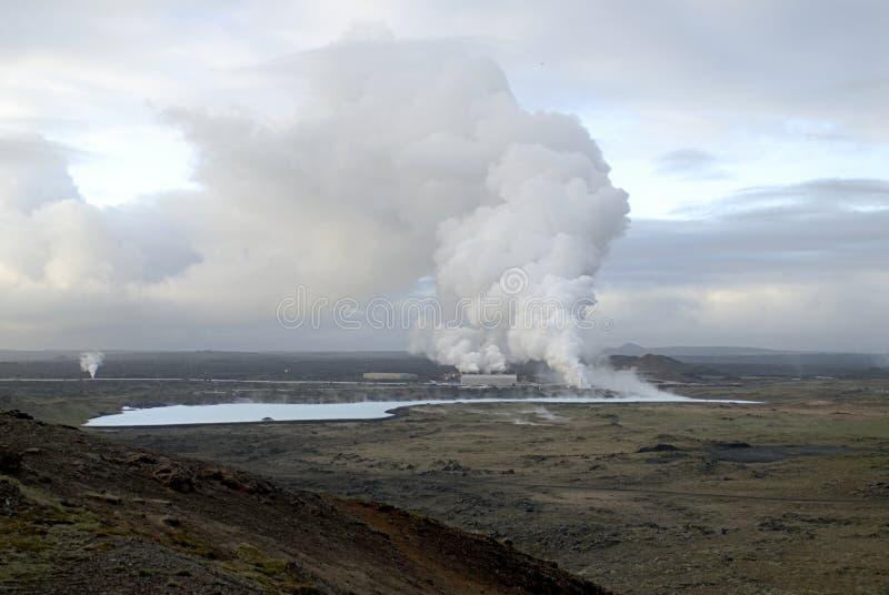 Centrale thermique en Islande photographie stock