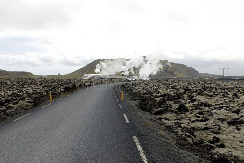 Centrale thermique en Islande image libre de droits