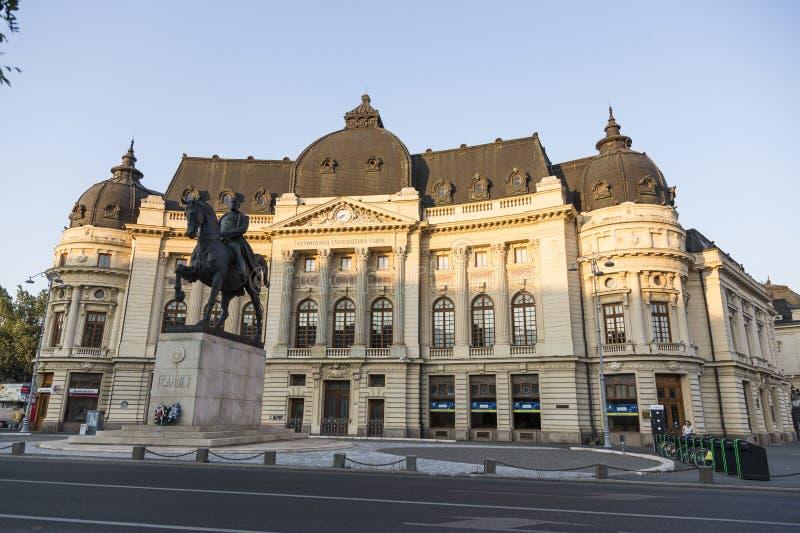 Centrale Universitaire Bibliotheek, Boekarest stock afbeelding