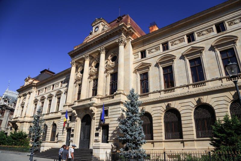Centrale Universitaire Bibliotheek De stad van Boekarest, Roemeni? stock foto's