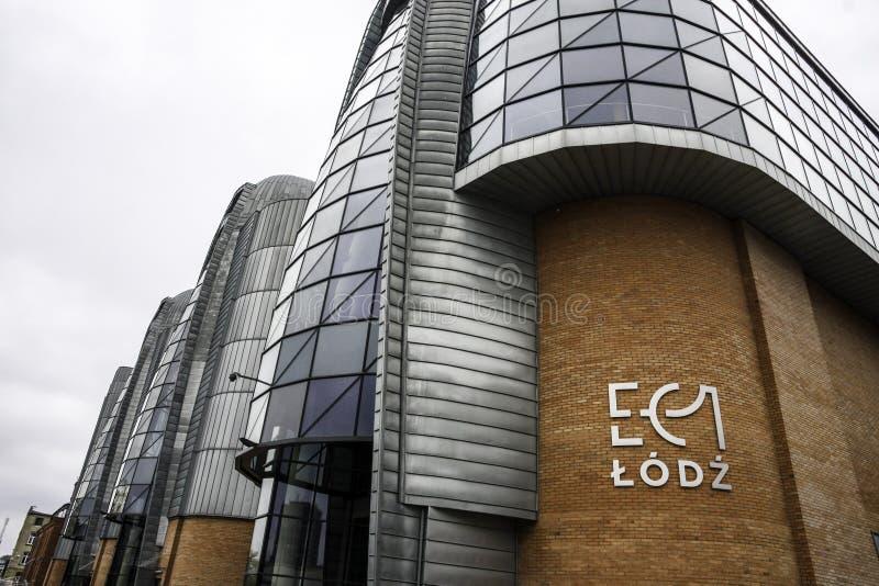 Centrale urbaine moderne de Lodz rétro photo libre de droits