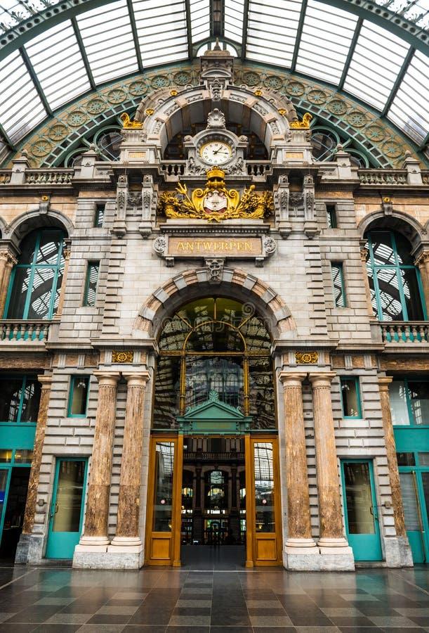Centrali stacja, Antwerpen zdjęcie stock