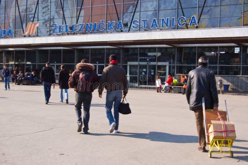 Centrali stacja w mieście Smutnym Novy zdjęcia stock