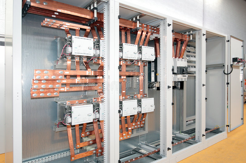 Centralino di corrente elettrica fotografia stock libera da diritti