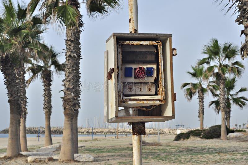 Centralita telefónica quebrada imágenes de archivo libres de regalías