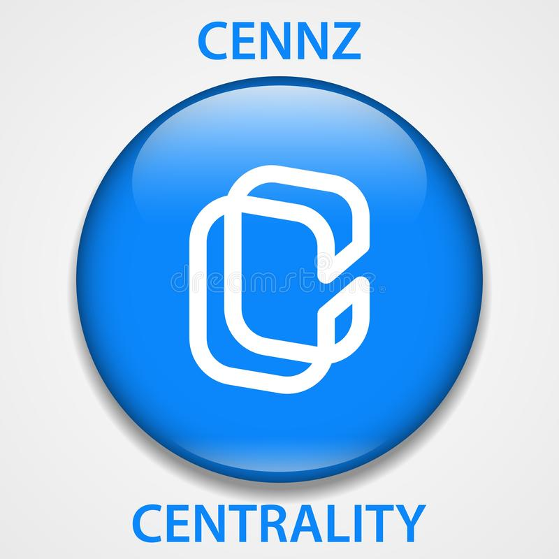 Centrality Coin cryptocurrency blockchain icon. Virtual electronic, internet money or cryptocoin symbol, logo.  royalty free illustration
