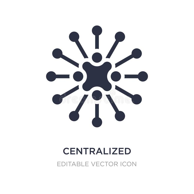 centralized connections icon on white background. Simple element illustration from Business concept stock illustration