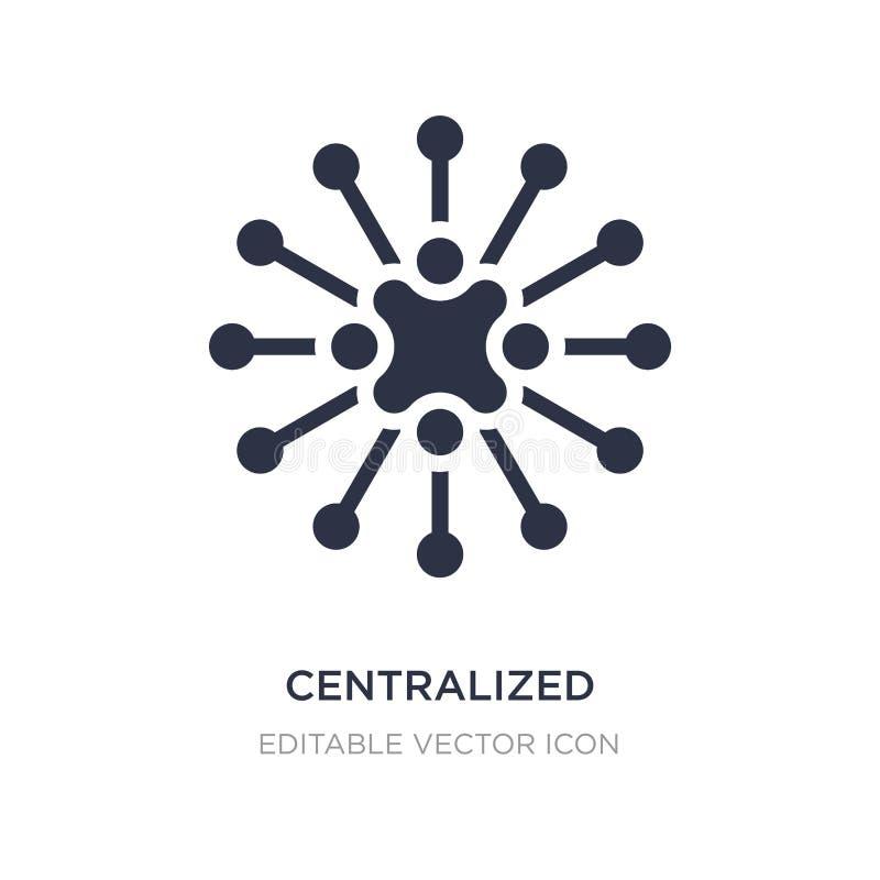 centralizująca związek ikona na białym tle Prosta element ilustracja od Biznesowego pojęcia ilustracji