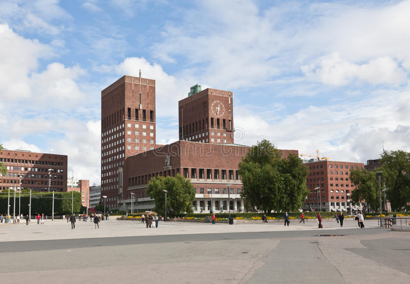 centralne miasto sala Oslo obraz royalty free
