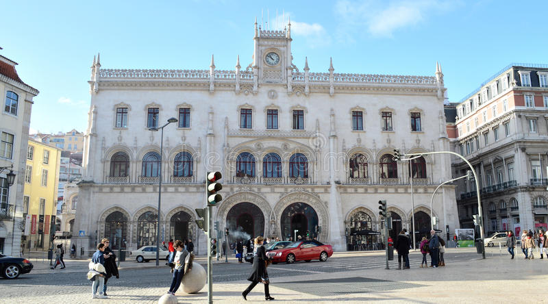 Centralstation av Lissabon, Europa royaltyfria bilder