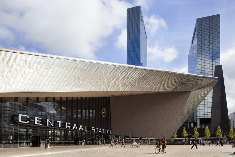 Centralstation rotterdam fotografering för bildbyråer