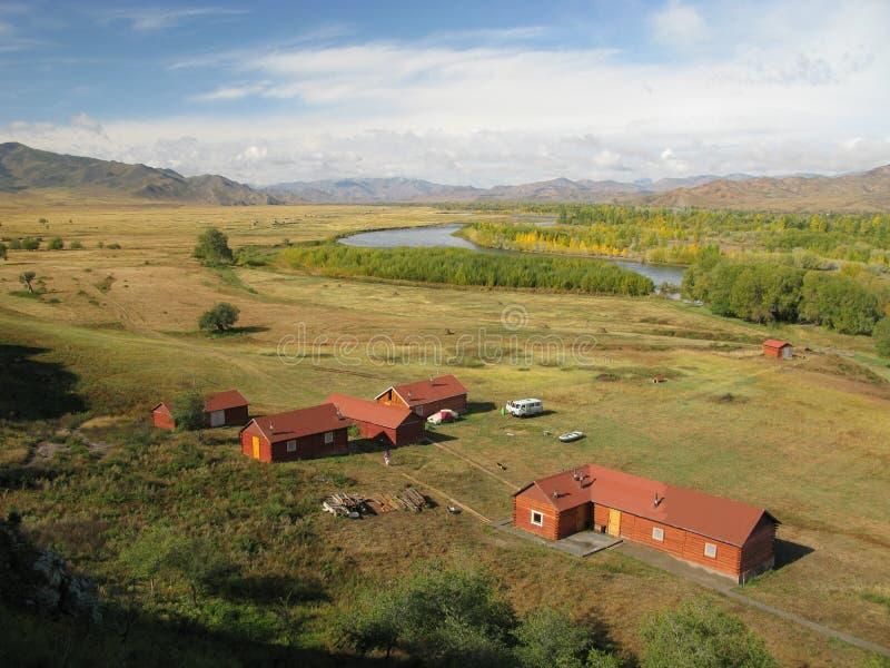 Centralt Mongoliet landskap, Selenge flod arkivbilder
