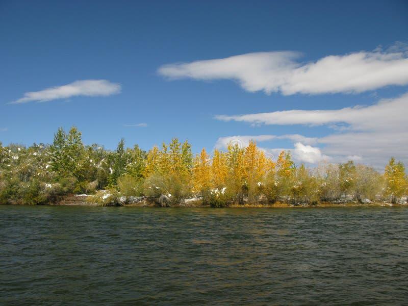 Centralt Mongoliet landskap, Selenge flod arkivbild