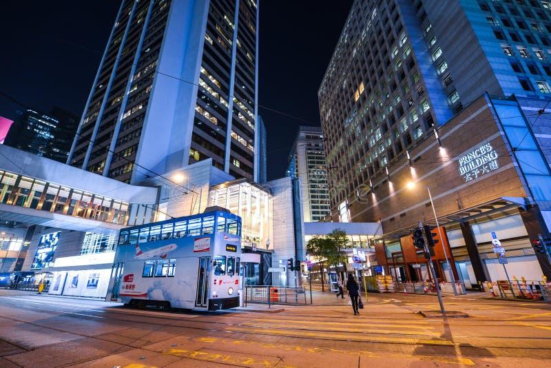 Centralt område: Trafik och stadsliv i den asiatiska internationella affären och den finansiella mitten, Hong Kong arkivfoton