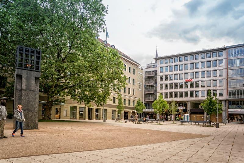 Centralt ställe i minnet av offren av tysk nazism arkivfoton