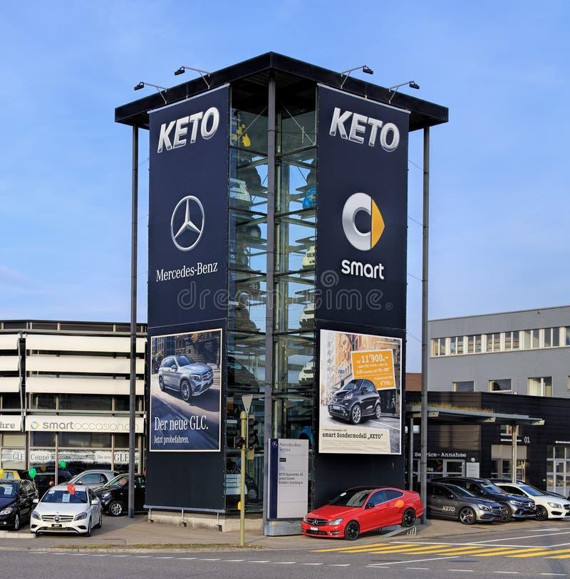 Centre-auto AG Zurich-Wallisellen central futé de cétonique images stock