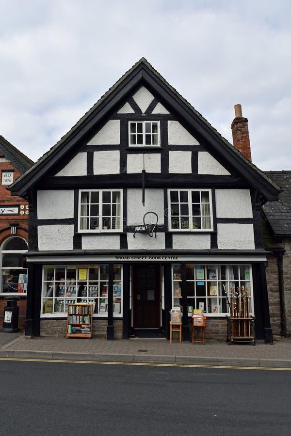 Centre célèbre de livre de large rue, foin-onWye, Herefordshire photo stock
