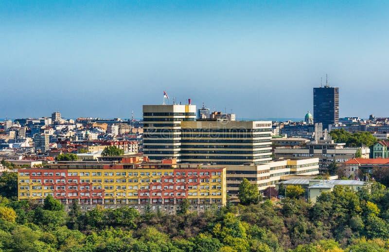 Centre clinique et hôpital de maternité à Belgrade photos stock