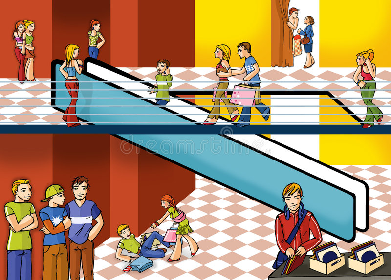 Centre commercial illustration stock