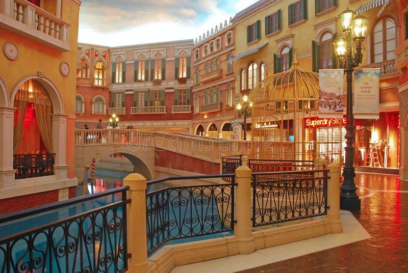 Centre commercial au Macao vénitien photographie stock libre de droits