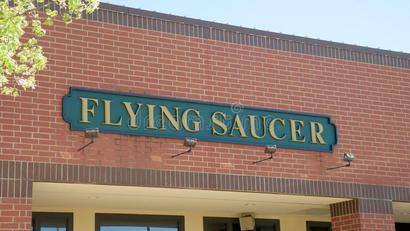 Centre commercial d'ébauche de soucoupe volante photos stock