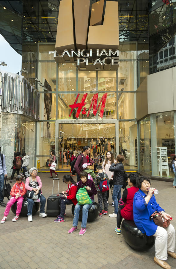 Centre commercial d'endroit de Langham dans Hnng Kong photo stock