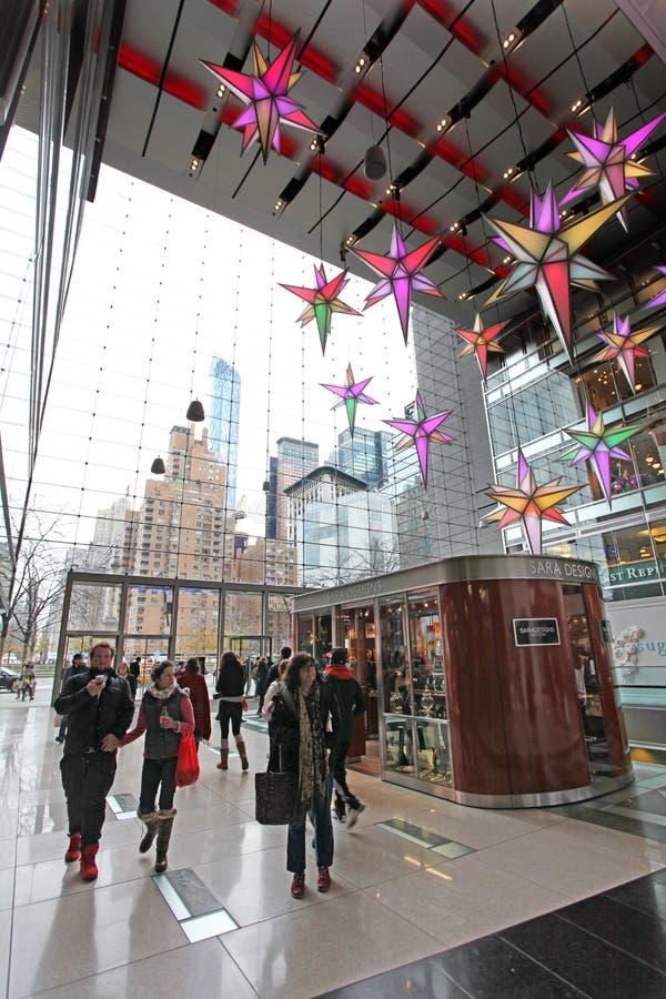 Centre commercial dans NYC, Etats-Unis images libres de droits