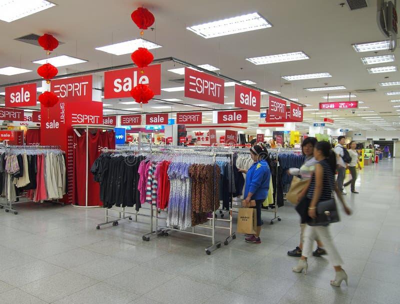 Centre commercial de la Chine photographie stock