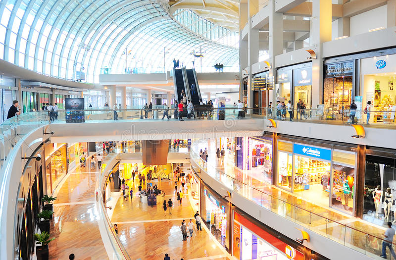 Centre commercial de Marina Bay image libre de droits