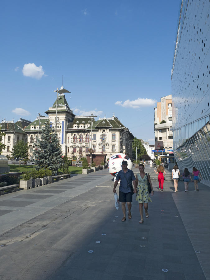 Centre commercial de Mercur, Craiova, Roumanie photographie stock libre de droits