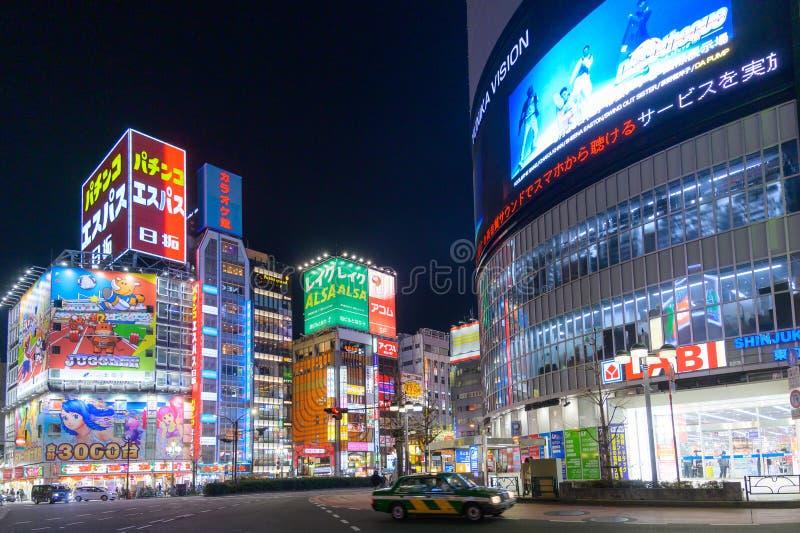 Centre commercial de Shinjuku Kabukicho Tokyo, du Japon, divertissement, barre et restaurant célèbres mêmes photo libre de droits