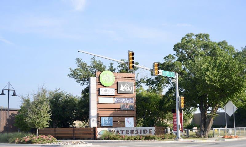 Centre commercial de Waterside, Fort Worth, le Texas photos stock