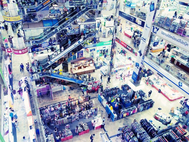 Centre commercial informatique, plaza de Pantip, Bangkok image stock