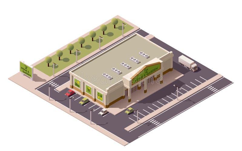 Centre commercial isométrique de vecteur illustration stock