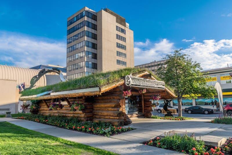 Centre d'accueil d'Anchorage photo stock