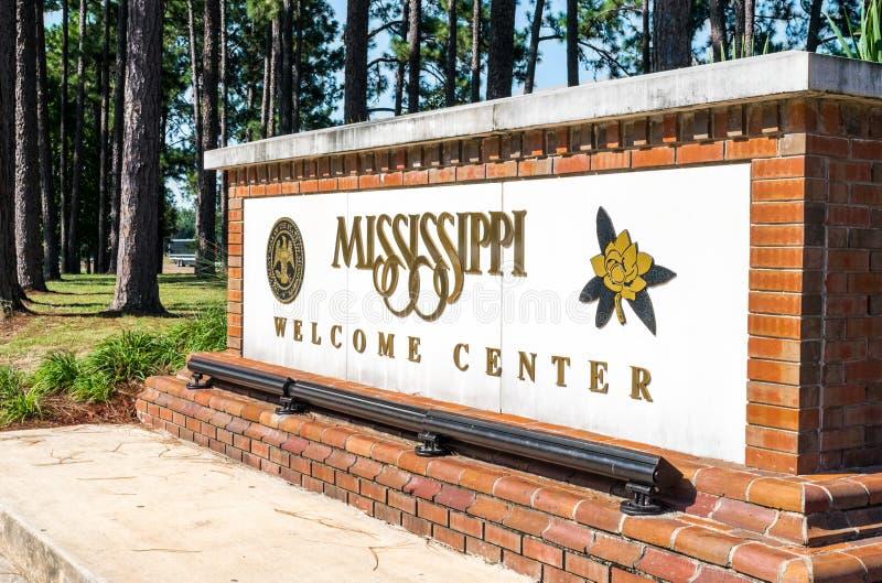 Centre d'accueil du Mississippi images stock