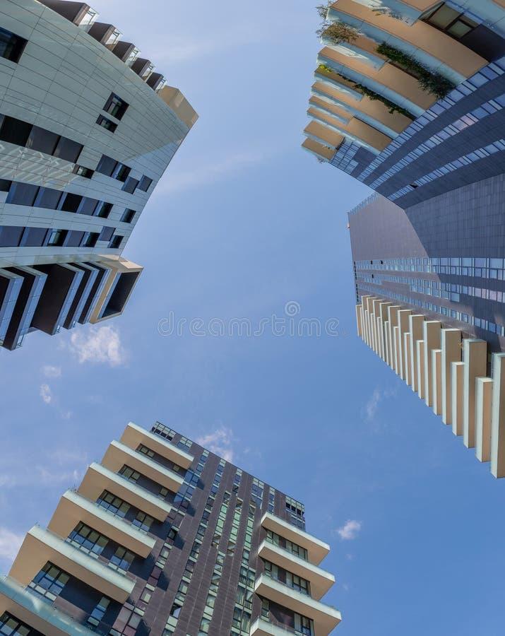Centre d'affaires à Milan photos stock