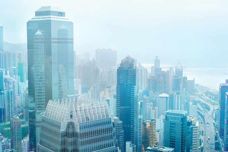 Centre d'affaires de Hong Kong images libres de droits
