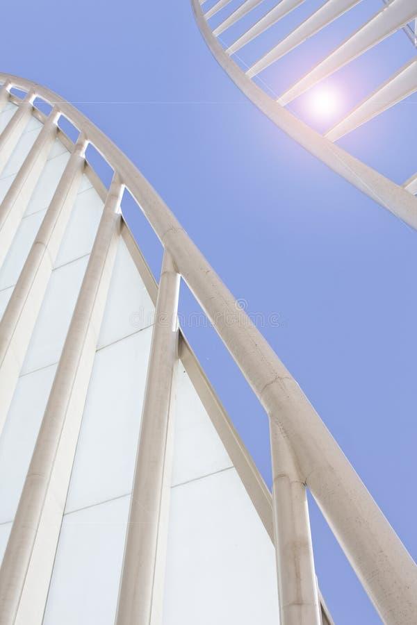 Centre d'affaires de la construction moderne d'architecture photo libre de droits
