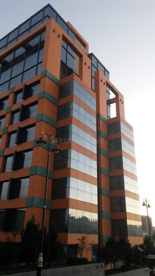 Centre d'affaires de point de ville de Bakou image stock