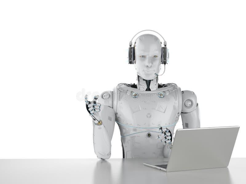 Centre d'appels de robot illustration de vecteur