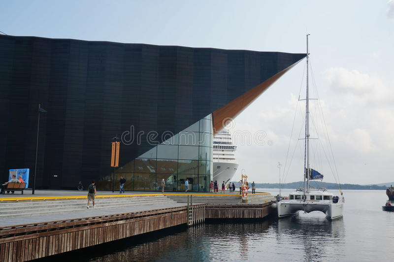 Centre d'arts du spectacle de Kilden, Norvège photographie stock