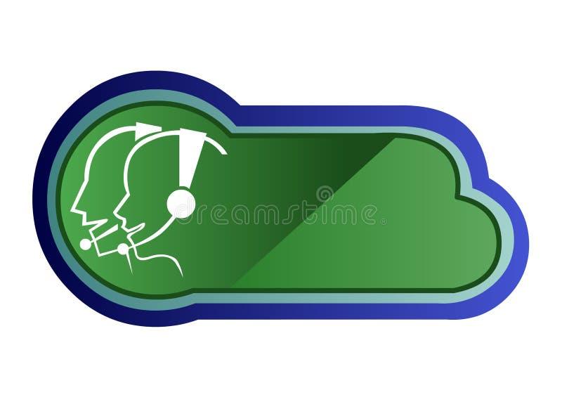 Centre d'attention téléphonique illustration de vecteur